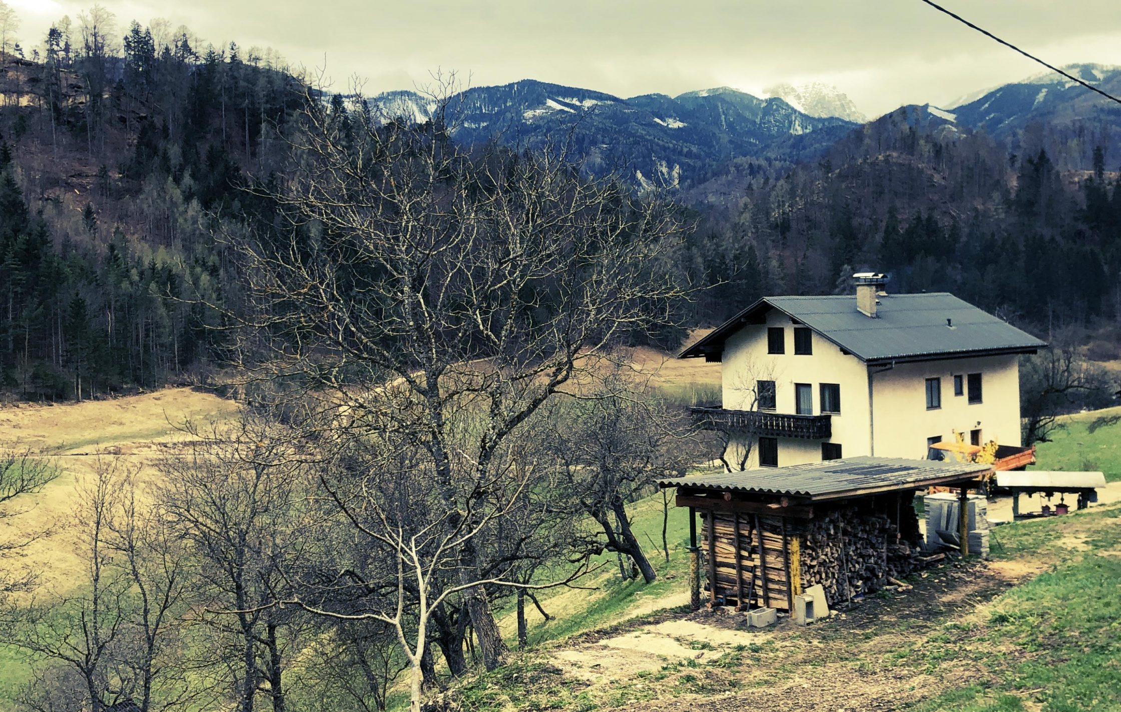an old house in the landscape